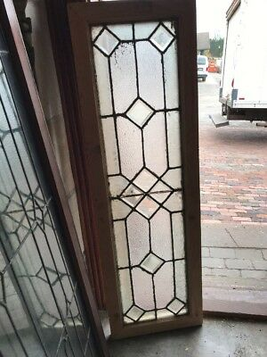 SG 1579 antique transom Stainglass window 16.25 x 5 2.25