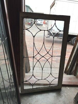 Sg 1581 Antique Leaded And Beveled Window 21.5 X 40.5