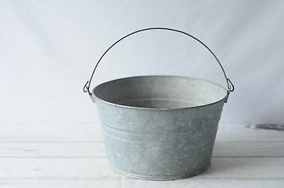 Galvanized Tub Wash Tub Bucket Metal Handle Galvanized Metal Pail OGS1