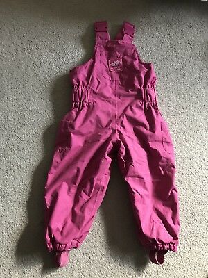 jojo maman bebe Girls Waterproof Fleece Lined Dungarees Pink Age 12-18months