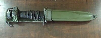 US WWII Case M4 , M8A1 BM Co. Scabbard, Leather Handle Knife NO RSV
