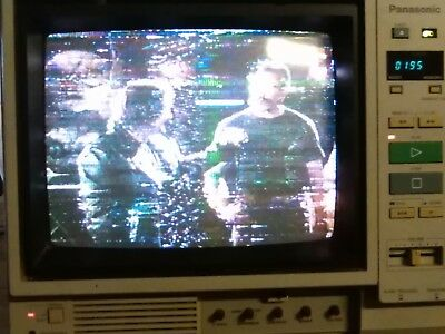 vintage retro TV colour CCTV monitor with built in VHS video panasonic AC500E