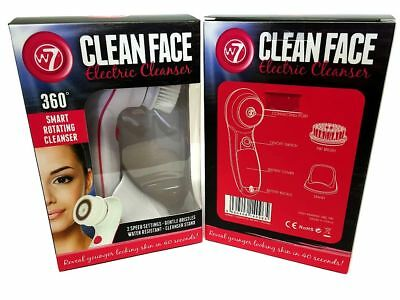 W7 Clean Face Electric Cleanser 2 Speed Water Resistant Super Value At £9.99 !!!