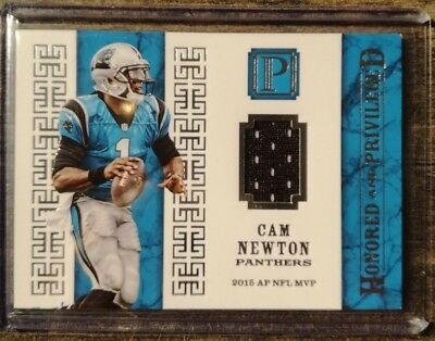 2017 Panini Cam Newton Pantheon Honored and Priveleged Patch /25