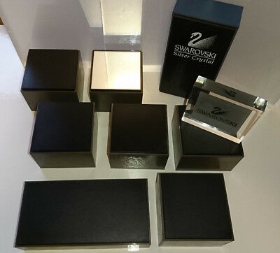 Swarovski Displays 8 Stucks + 2 x Swarovski Aufsteller Schild Silver Crystal
