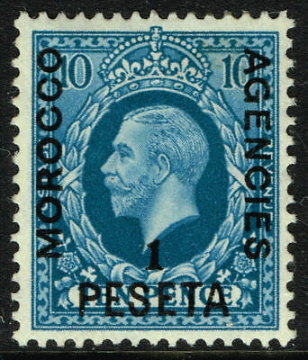 SG 159 MOROCCO AGENCIES 1937 - 1p on 10d TURQUOISE-BLUE - MOUNTED MINT