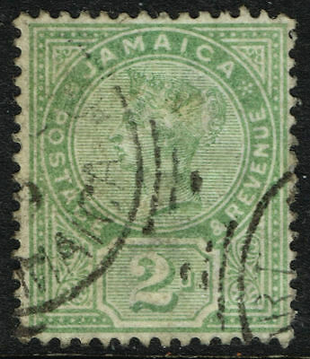 SG 28 JAMAICA 1889 - 2d GREEN - USED