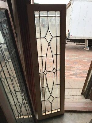 SG 1593 antique all beveled glass transom window 16.5 x 60.5