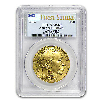 2006 1 oz Gold Buffalo MS-69 PCGS (First Strike) - SKU #15307