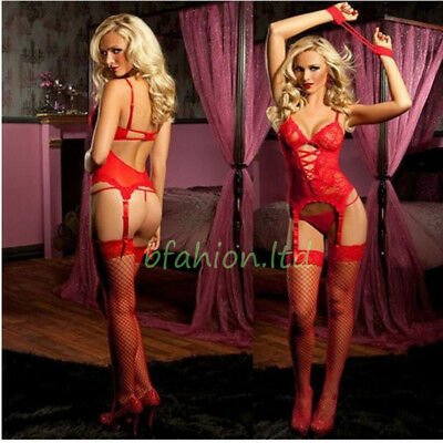 Sexy Lingerie Ladies Nightwear Babydoll+G String Lace Dress Christmas Gift