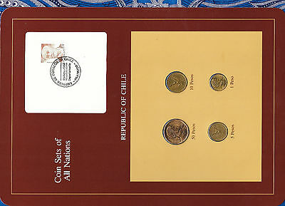 Coin Sets of All Nations Chile 1981-1984 UNC 1 Pesos 1984 5,50 Pesos 1982