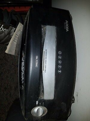 Aurora AS1012SB, Used Paper Shredder, Good Working Condition.