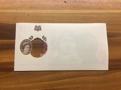 NEW £10 ERROR ** Blank One Side.**Royal Mint ERROR