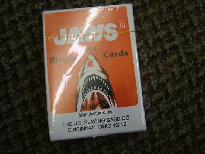 Vintage JAWS III Playing Cards. Sealed, Unopened