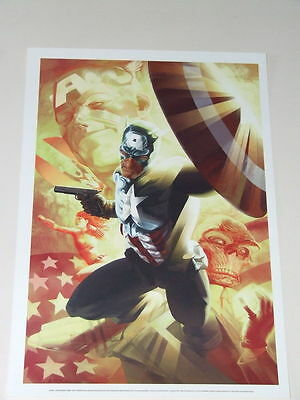 Bucky Barnes as Captain America Exclusive Sideshow Art Print (Marvel)