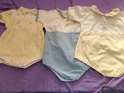 3 ViNTAGE ANTIQUE Baby Clothing Childrens Little Boys /GIRL ROMPER JUMPSUITS