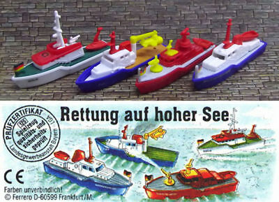 ➡ KINDER 1995 ☆ BATEAUX RETTUNG AUF HOHER SEE COMPLET ☆ 4 Fig. + 1 BPZ ☰