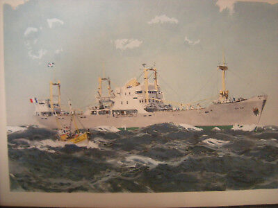 Albert Brenet . Litho . Cargo . Paquebot. Compagnie Maritime