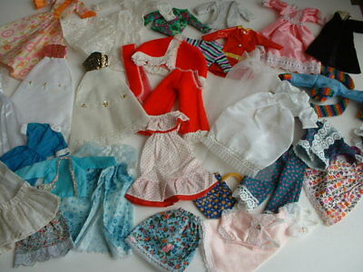 Large lot of vintage Sindy/Tressy size doll clothes