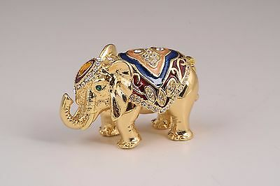 Faberge Elephant  trinket box hand made by Keren Kopal with Austrian crystals