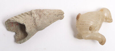 Lot of 2 Ancient Near Eastern clay/Stone Animals c.6th -4th Cent BC.