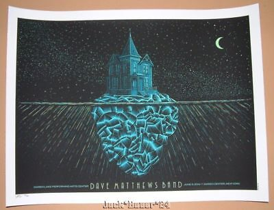 Todd Slater Dave Matthews Band Darien Center Poster Print Signed Numbered GID