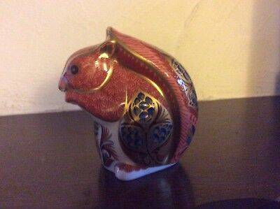 Red Squirrel Royal Crown Derby Paperweight Gold Stopper Boxed