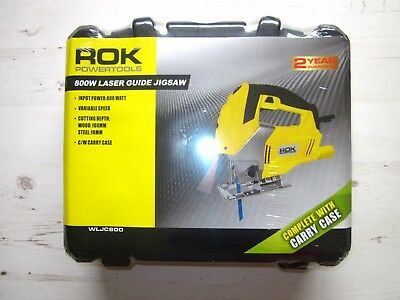 Rok 800W Jigsaw Laser Guide Variable Speed with Carry Case RRP£74.99