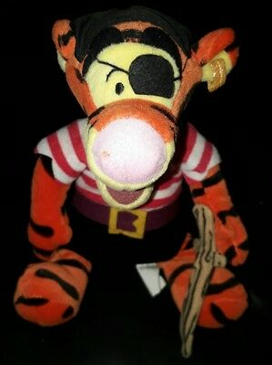 Disney Store Tigger Pirate plush teddy with sword collectable Winnie the Pooh