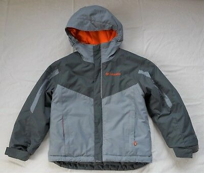 Columbia Boys Size 4/5 XXS Winter Coat Jacket with Hood Outgrown Sleeves