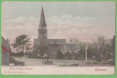HALSTEAD - HOLY TRINITY CHURCH postcard - WRENCH series published - posted 1905