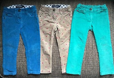 Mini Boden Skinny Corduroy Stretch Trousers Size 2-3 3-4 Years VGC