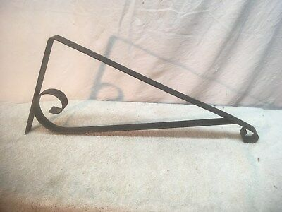 Antique Vintage  Wall Iron  Hanging 19In  Sign Bracket Gas Station Plant Hanger