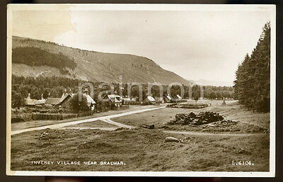INVEREY VILLAGE - Nr. Braemar - Aberdeenshire - Scotland - real photo postcard.