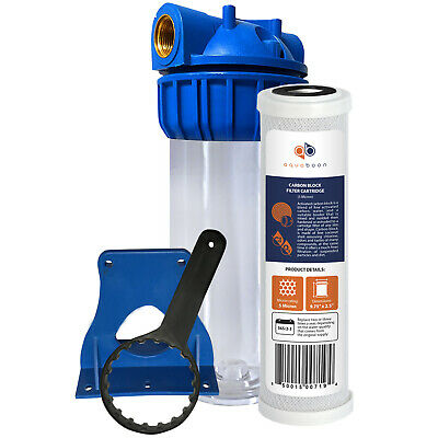 """Aquaboon 10"""" Water Filtration System, Includes  Coconut Shell Carbon Filter"""
