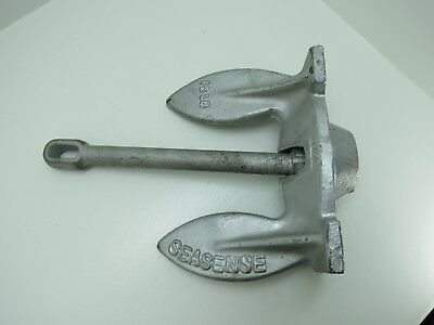 15 lb SEASENSE GALVANIZED SHIP BOAT ANCHOR  STOCKLESS STYLE (#2702)