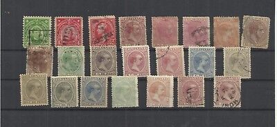 Spain colonies Philippines early stamps incl used in Hong Kong