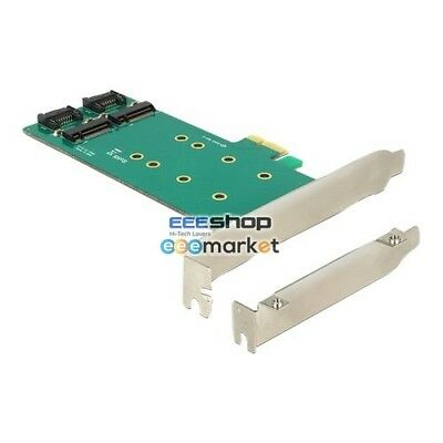 DeLOCK PCIe x1 > 2 x M.2 Key B Low Profi, Adapter 89473