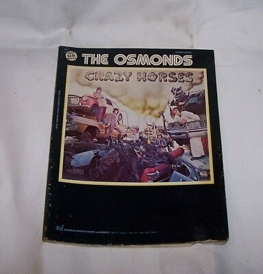 THE OSMONDS   DONNY OSMOND  SONG  MUSIC BOOK   crazy horses   NEW  1970s