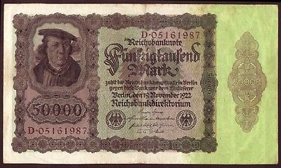1922 50000 Mark Germany vintage paper money banknote currency antique note bill