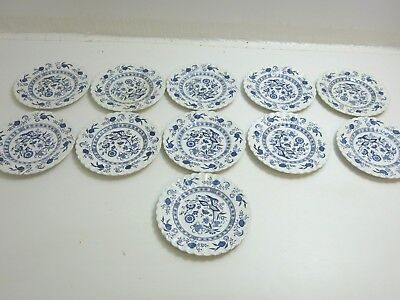 """Lot Of 11 Classic J&g Meakin Blue Nordic Ironstone 7"""" Dessert Or Snack Plates"""