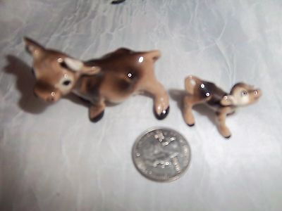 Vintage Hagen Renaker  One Cow And One Calf Miniture Figurines