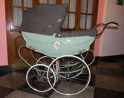 Silver Cross Wilson BOP coach built pram vintage restored to new baby ready