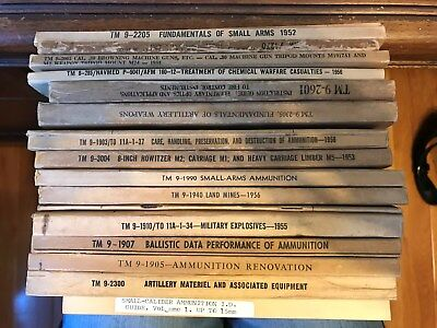 Lot of 17 Dept. of the Army Technical & Field Manuals 1950's 60's and 70's