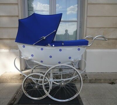Silver Cross Wilson MARQUISE coach built pram vintage restored to new baby ready