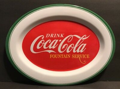 Drink Coca-Cola Fountain Service Tray Platter Display Gibson Everyday