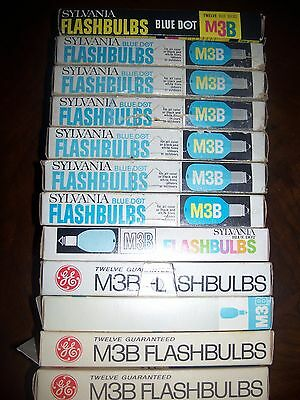 M3B Flashbulbs by Sylvania and General Electric- 144 bulbs in 12 packages