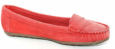 Primark Womens Distressed Red Suede Leather Pumps Shoes UK Size 4 EU 37