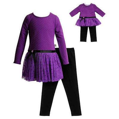 """Dollie Me Sz 10-14 and 18"""" doll matching dress outfit clothes fit american girl"""