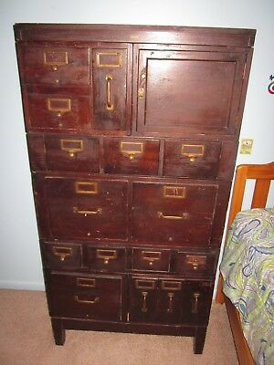 antique Globe Wernicke Library file cabinet stackable 9 sections indutrial loft